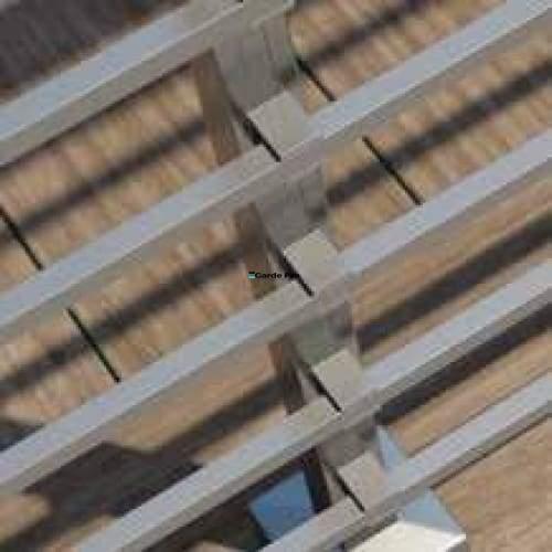 Garde-corps aluminium lisses carrés