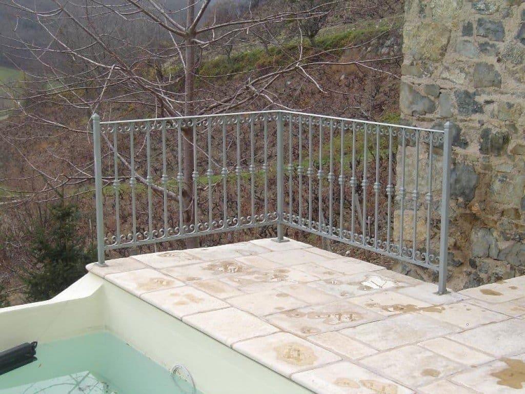 Garde-corps terrasse réalisé à partir d'une photo