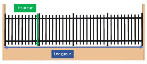 Clôture Lilas hauteur entre 800 mm et 1200 mm